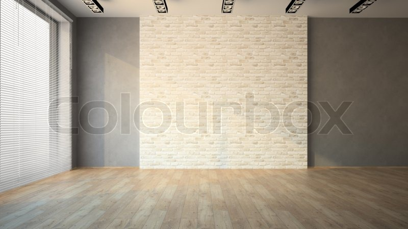 Empty Room Whith Brick Wall And Stock Photo Colourbox