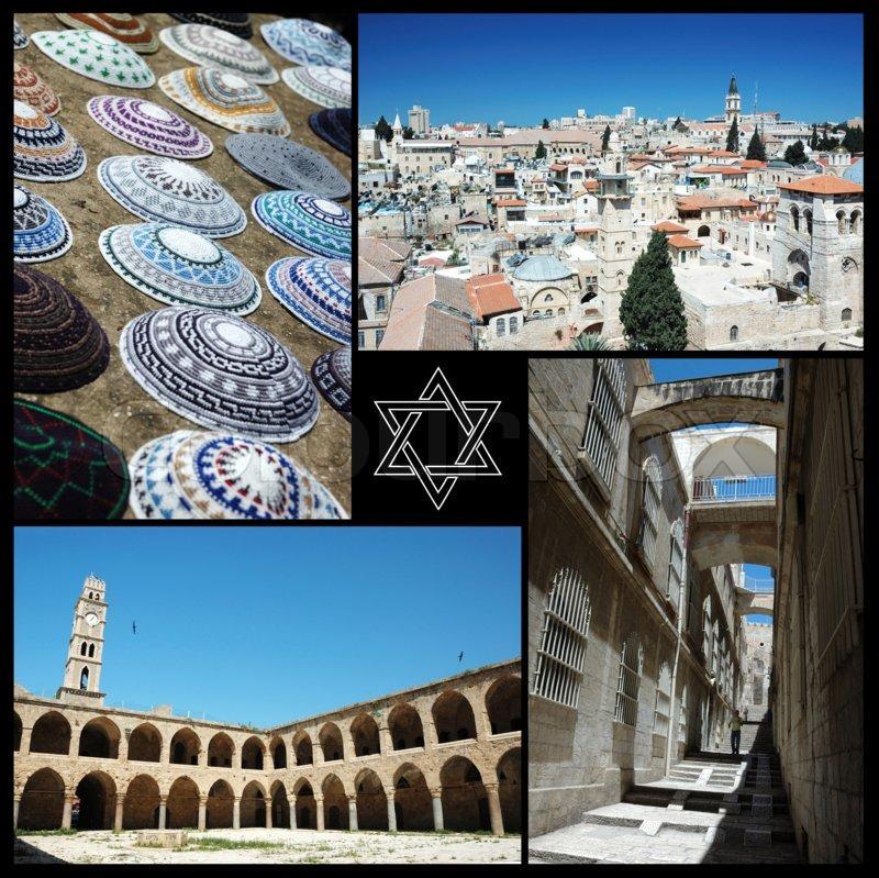 Collage Of Israel Landmarks Motherland Stock Photo Colourbox