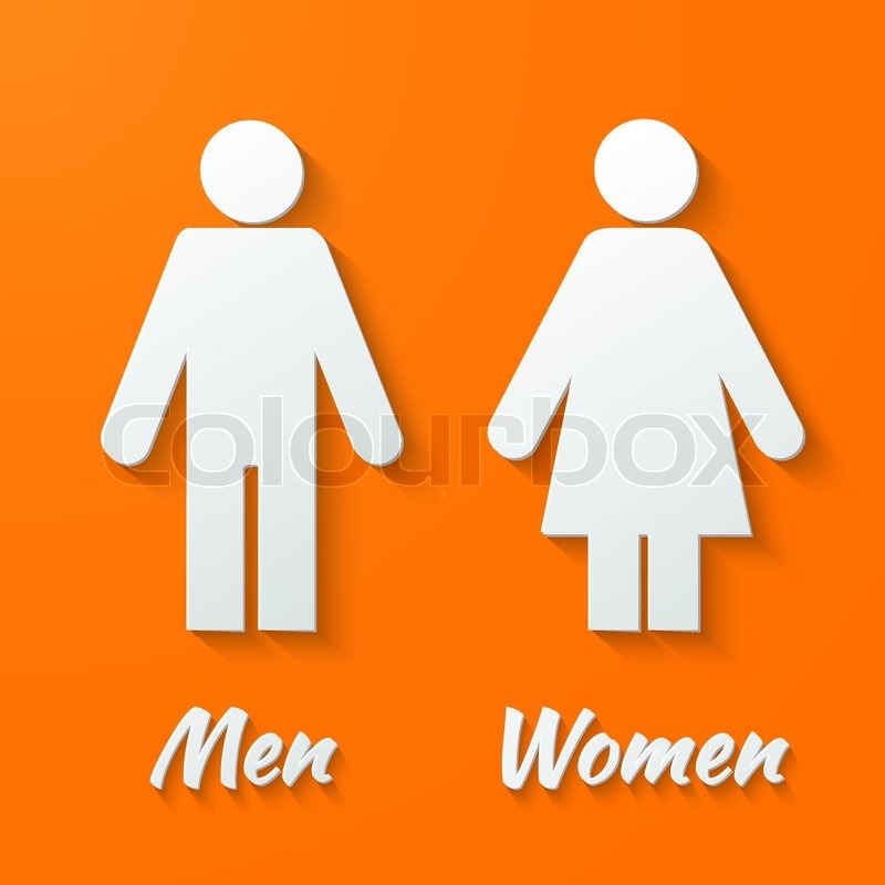 3d Paper Signs Toilet Changing Room Male Female Wc