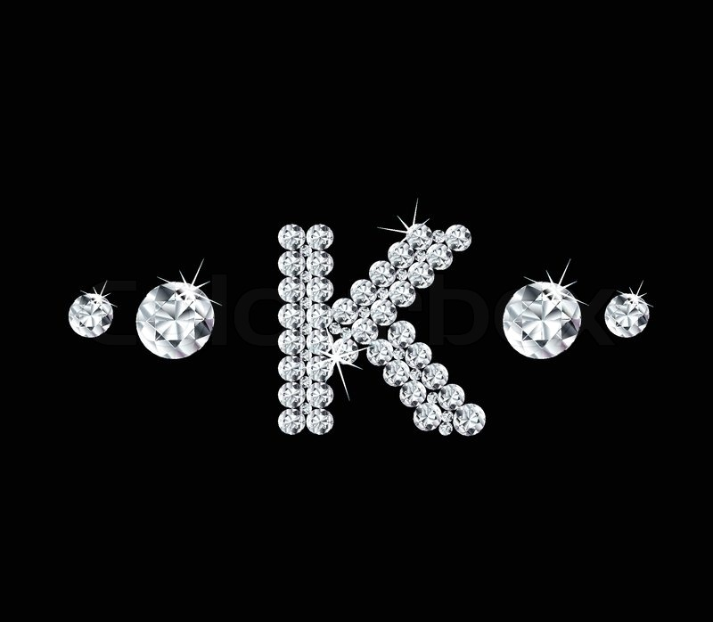 The Letter K In ...K Letter In Diamond