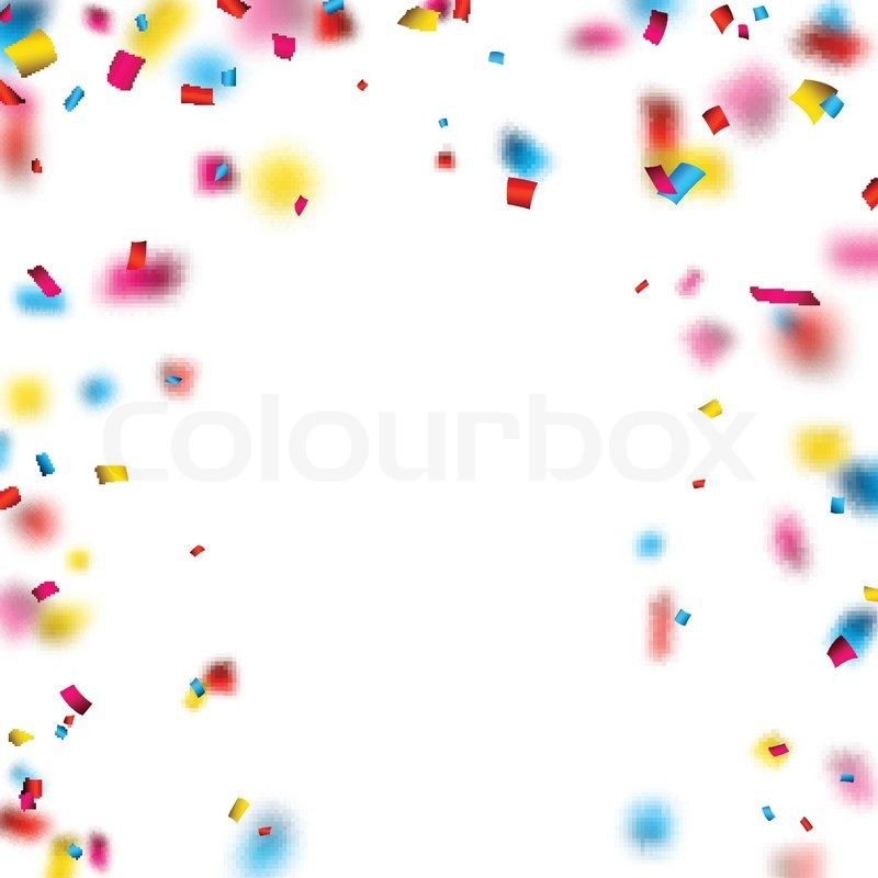 Colorful Celebration Background With Defocused Confetti