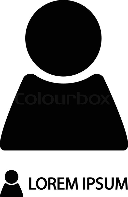 Black Person Sign As Logo In On White Stock Vector Colourbox