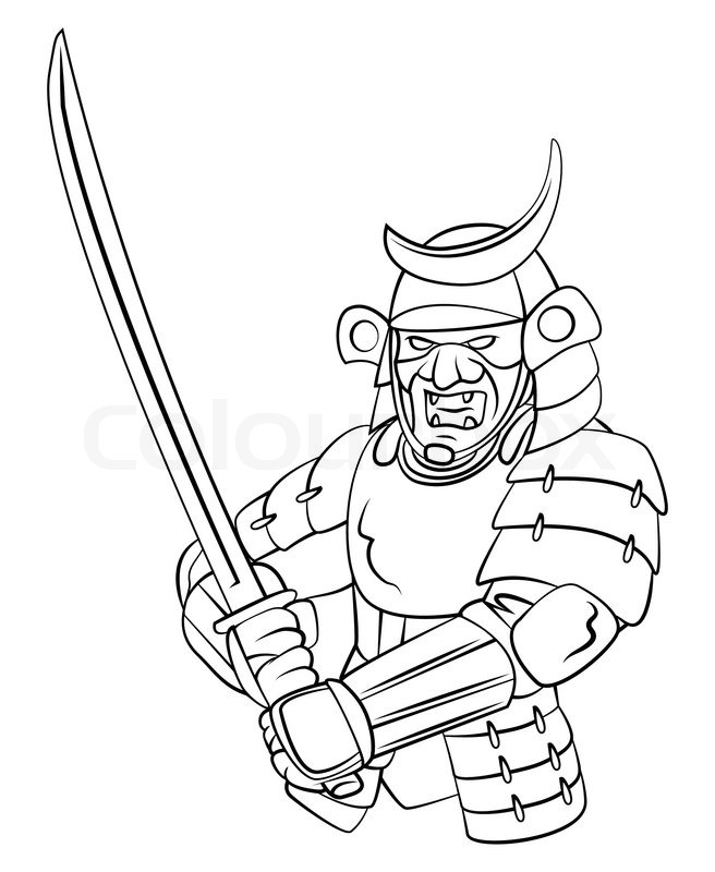 Samurai Warrior Stock Vector