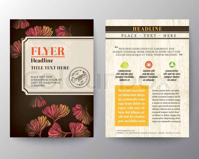 Brochure Flyer graphic design Layout vector template in A4 size ...