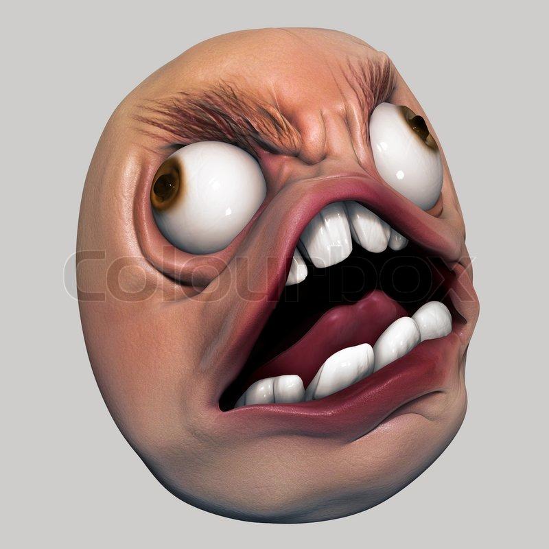 Angry Internet Meme Troll Head