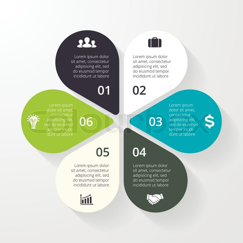 Vector circle infographic. Template for diagram, graph, presentation ...