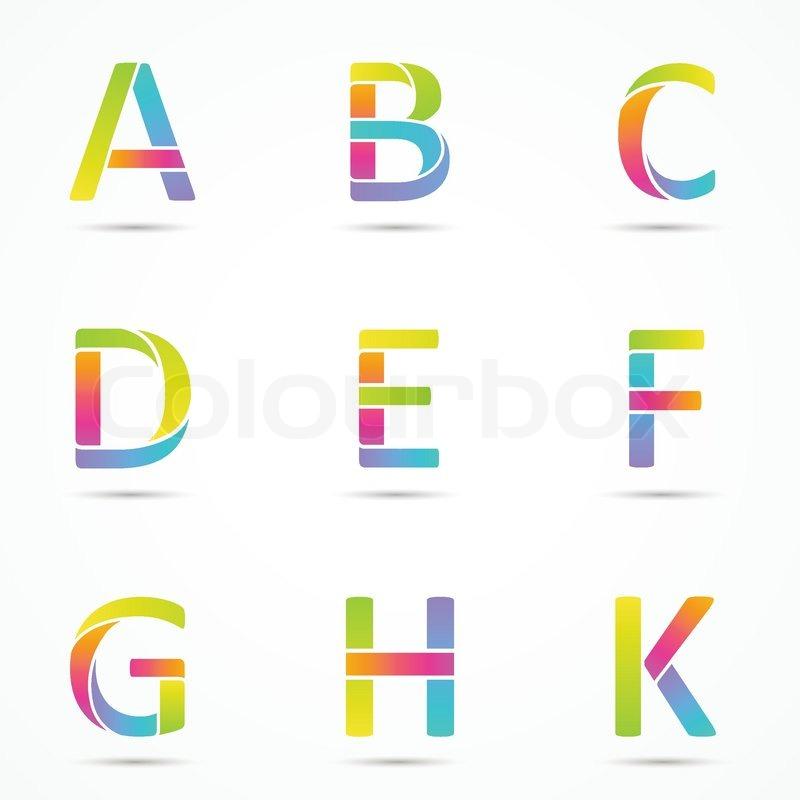 Logo letters a b c d e f g h k company vector design logo letters a b c d e f g h k company vector design templates set vector spiritdancerdesigns Gallery