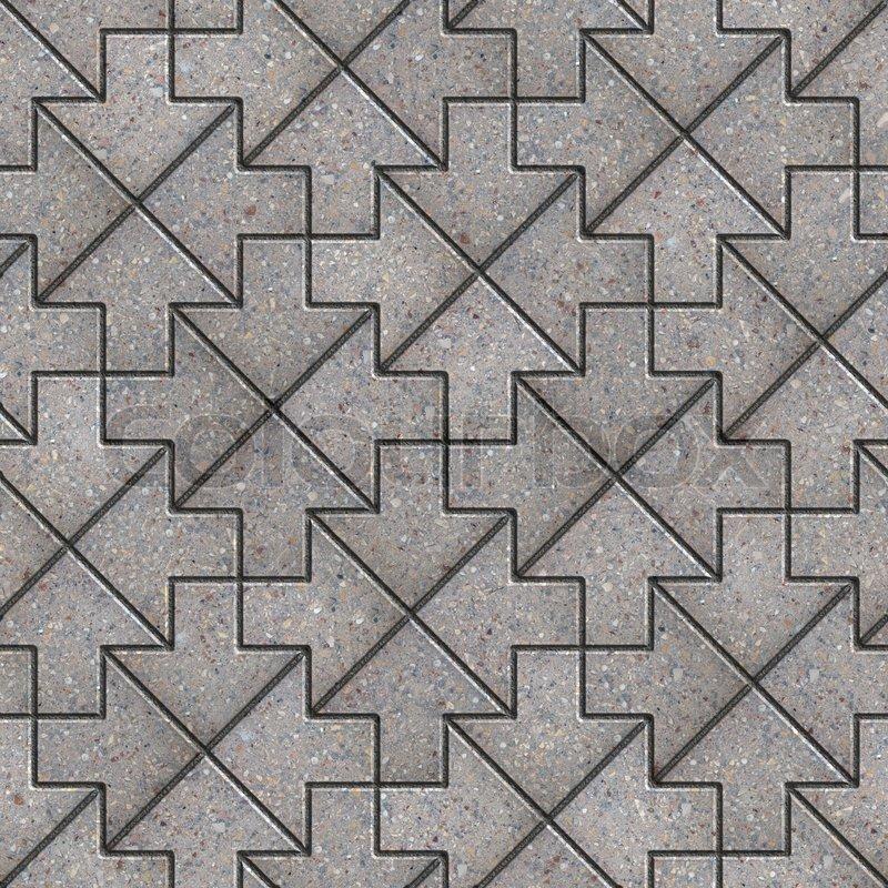 Grey Pavement Of Figured Slabs Stock Image Colourbox