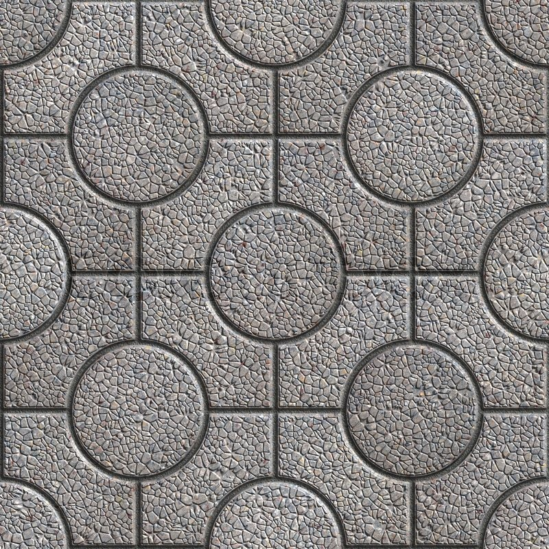 Grey Paving Slabs With Curly Seamless Tileable Texture