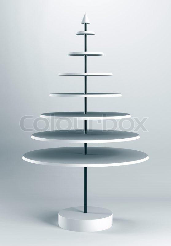 3d christmas tree shelves and shelf design stock photo colourbox