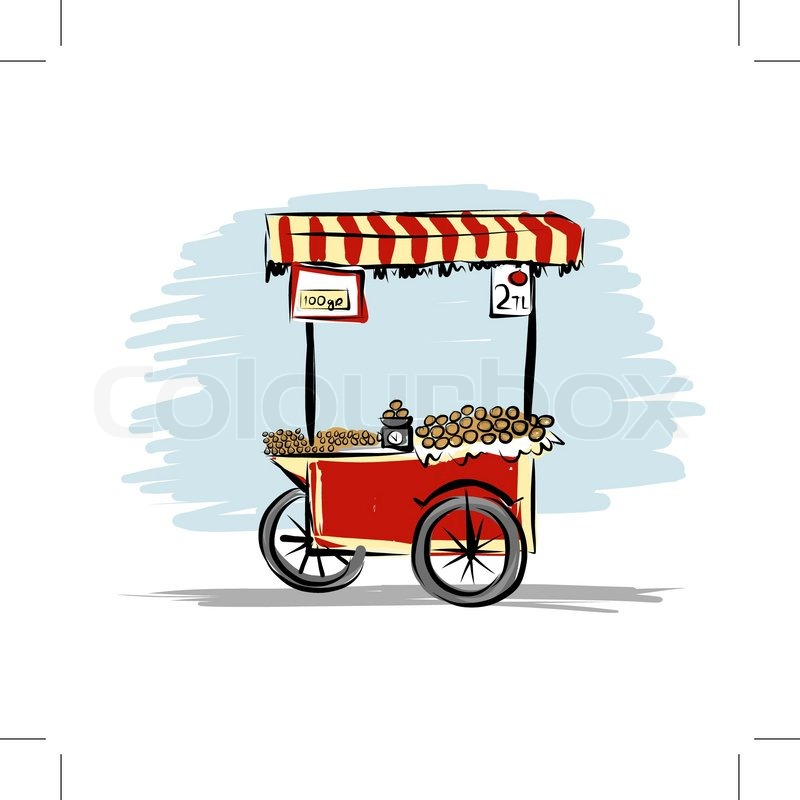 Street food cart for your design,     | Stock vector | Colourbox