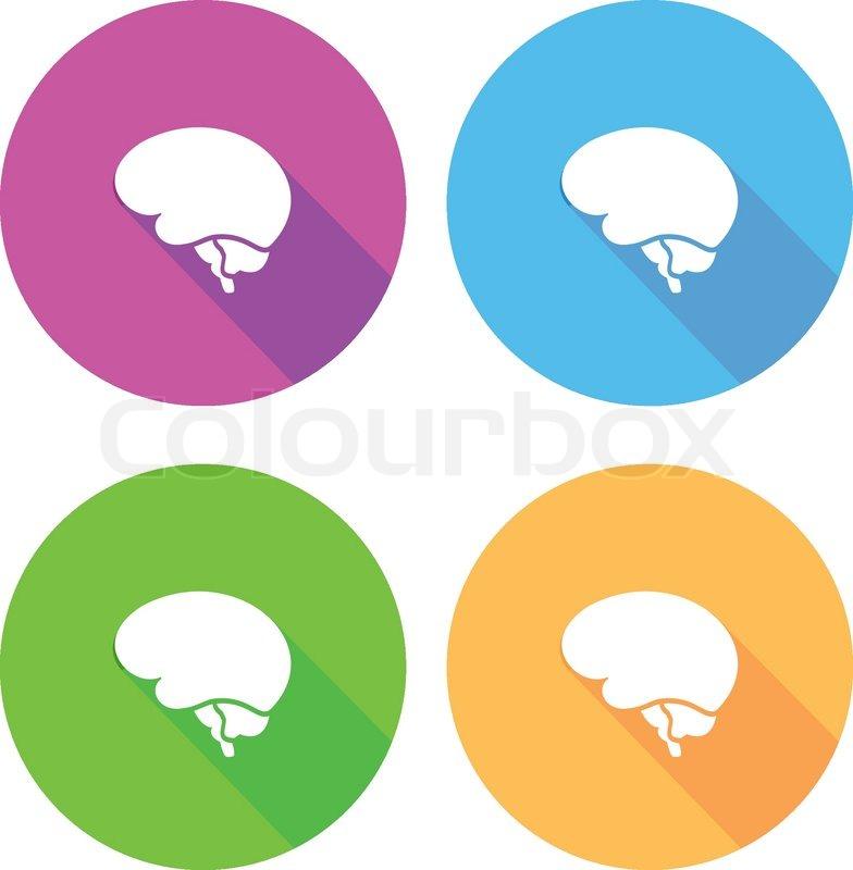 flat brain icon - photo #17
