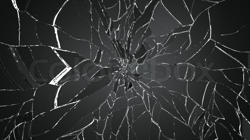 Glass breaking pieces isolated on white. Large resolution ...