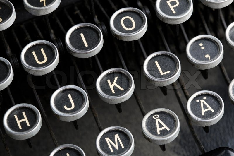 Quot Closeup Of Letter Keys On Old Fashioned Typewriter
