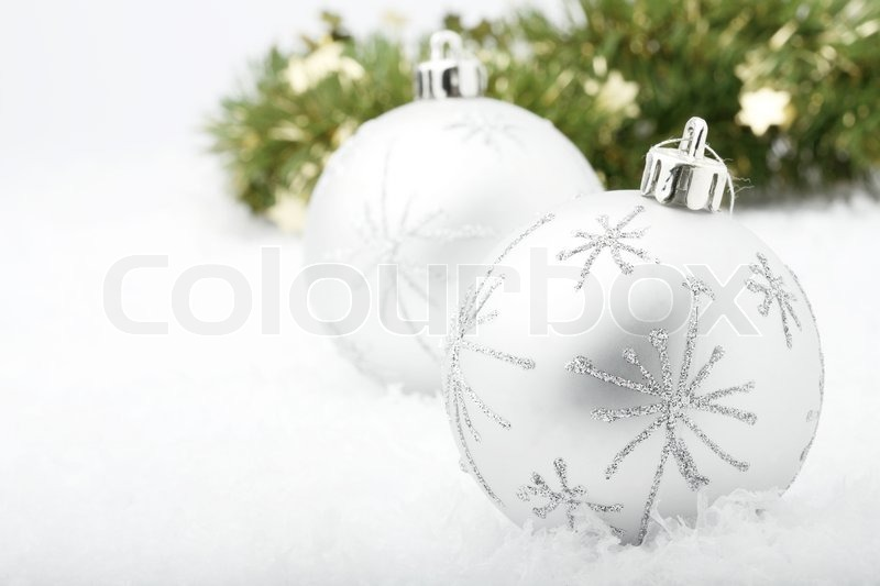 Stock image of 'Christmas bauble decorations'