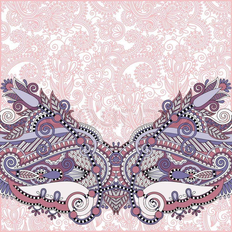Book Cover Design Background : Paisley design on decorative floral background for