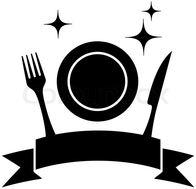 Isolated Food Icon With Plate And Kitchen Utensil