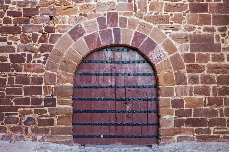 Antique doors gates Portuguese castle. Silves stock photo & Antique doors gates Portuguese castle. Silves. | Stock Photo ...