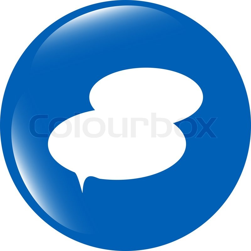 Speech bubble web app button icon | Stock image | Colourbox