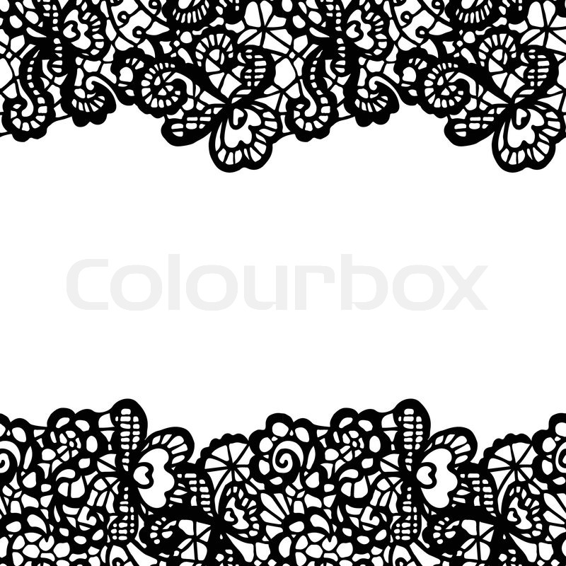 seamless lace border vector illustration stock vector colourbox rh colourbox com gold lace border vector black lace border vector