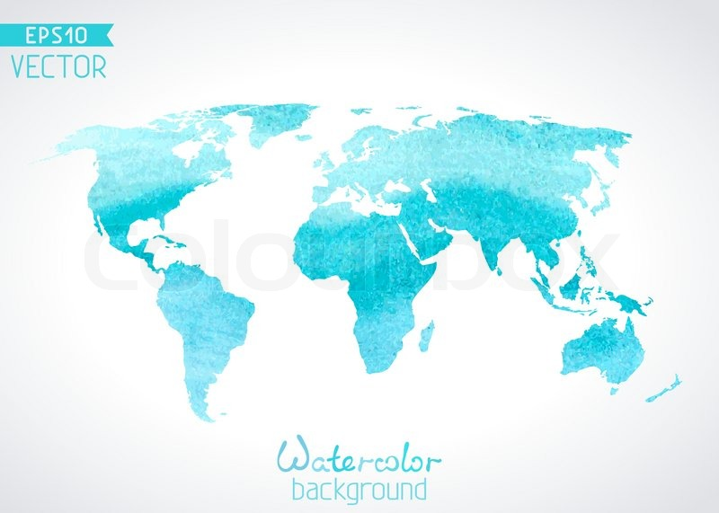 World vector watercolour map isolated on light background stock stock vector of world vector watercolour map isolated on light background gumiabroncs Image collections