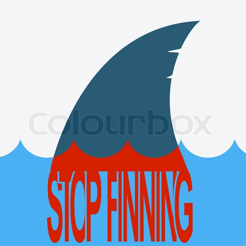 Shark Finningctor Symbol Of Global Problem With Blood Fin And