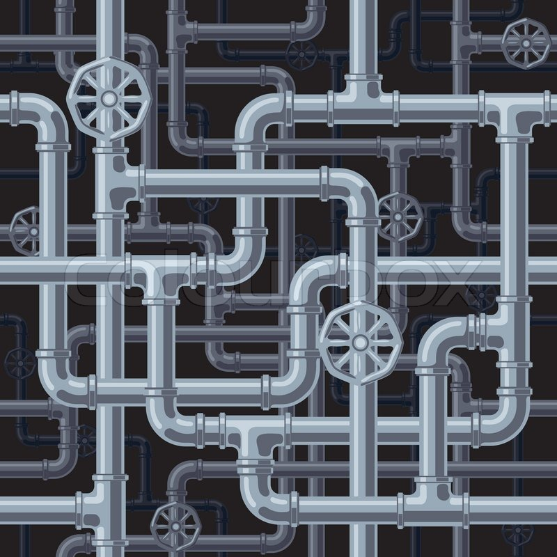 Seamless pipes background. Eps8. CMYK. Organized by layers