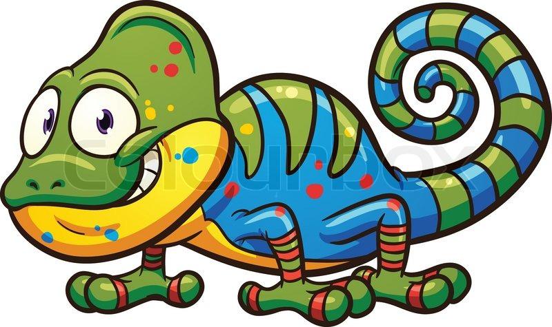 cartoon chameleon vector clip art illustration with simple rh colourbox com cartoon vector stock cartoon vector text effect vol 2