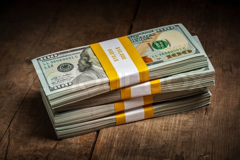 Stack Of Money 100 Dollars Bill : Creative business finance making money concept stacks of