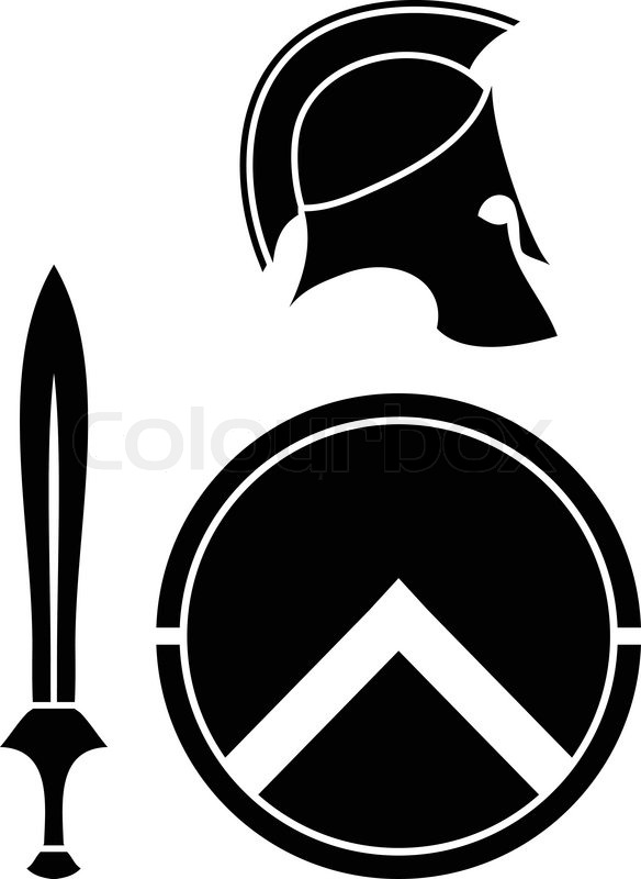 Helmet Sword Shield Helmet Sword And Shield