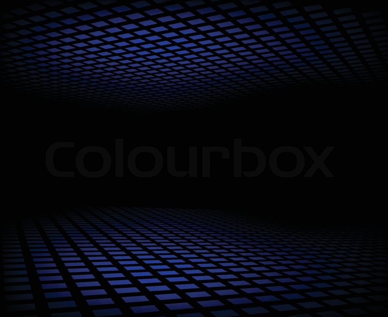 Vector illustration of dark blue abstract background ...
