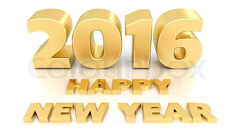 happy new year 2016 isolated 3d design template on white background stock photo colourbox
