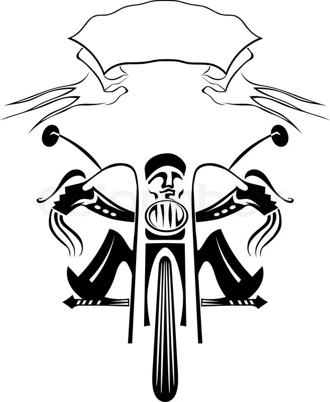 black silhouette of a biker on a