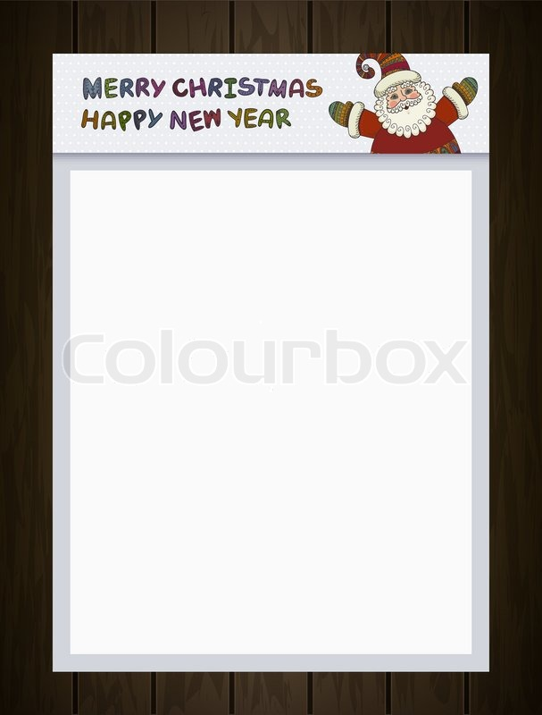 santa claus merry christmas and happy new year labels for santa claus letter xmas banner sign poster holiday invitation greeting cards