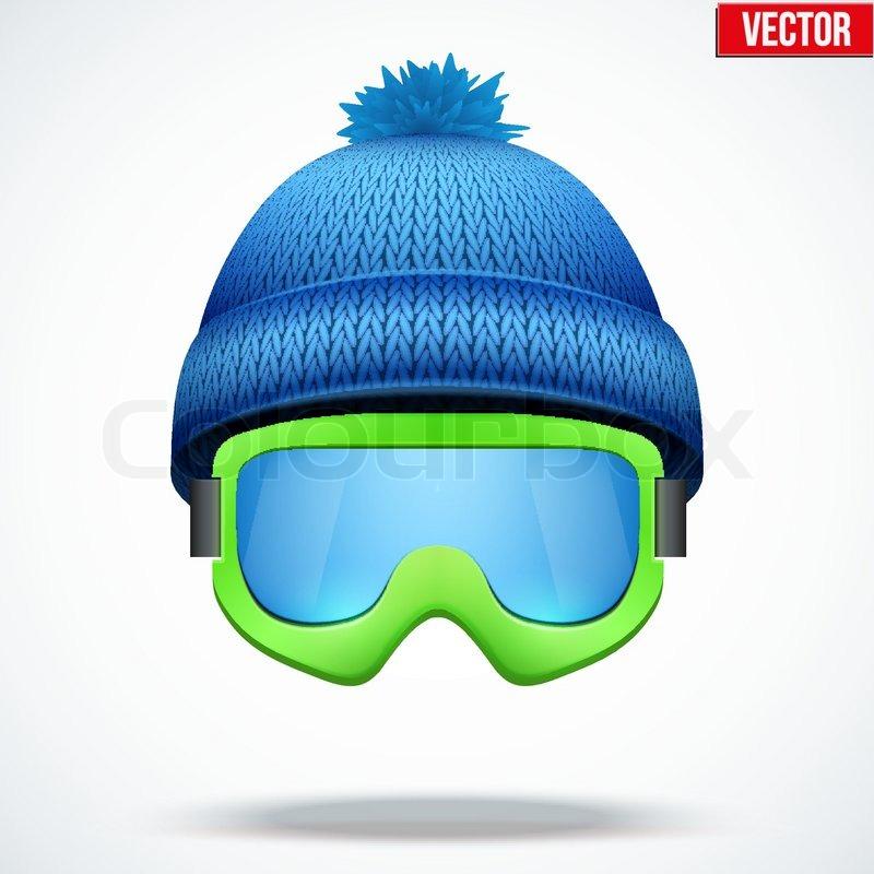 Ski Goggles Vector Cap With Snow Ski Goggles