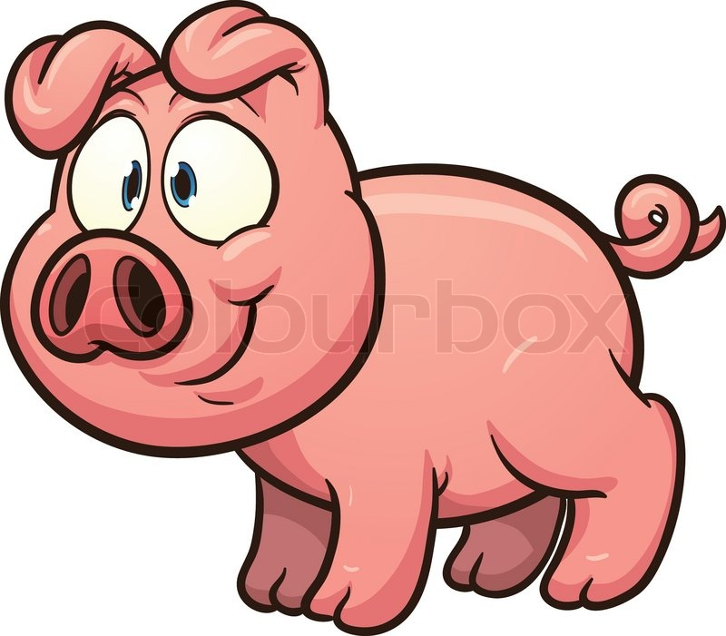 little cartoon pig vector clip art illustration with simple rh colourbox com pig vector free download pig vector art free