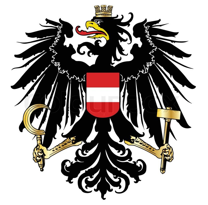 the austrian coat of arms over a white background stock vector rh colourbox com coat of arms vector download coat of arms vector file