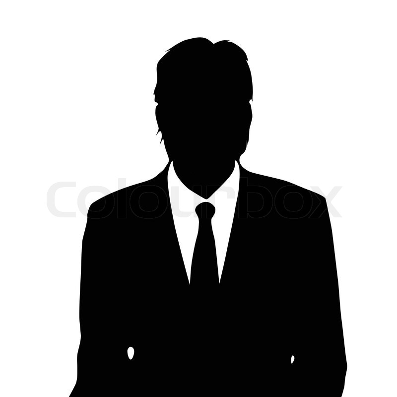 Businessman portrait silhouette, male ... | Stock vector ...