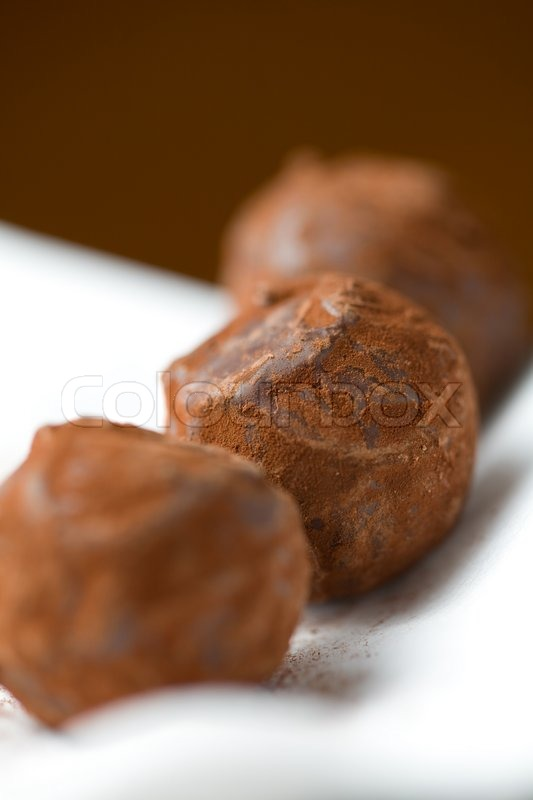 Stock image of 'Sweet chocolate balls'
