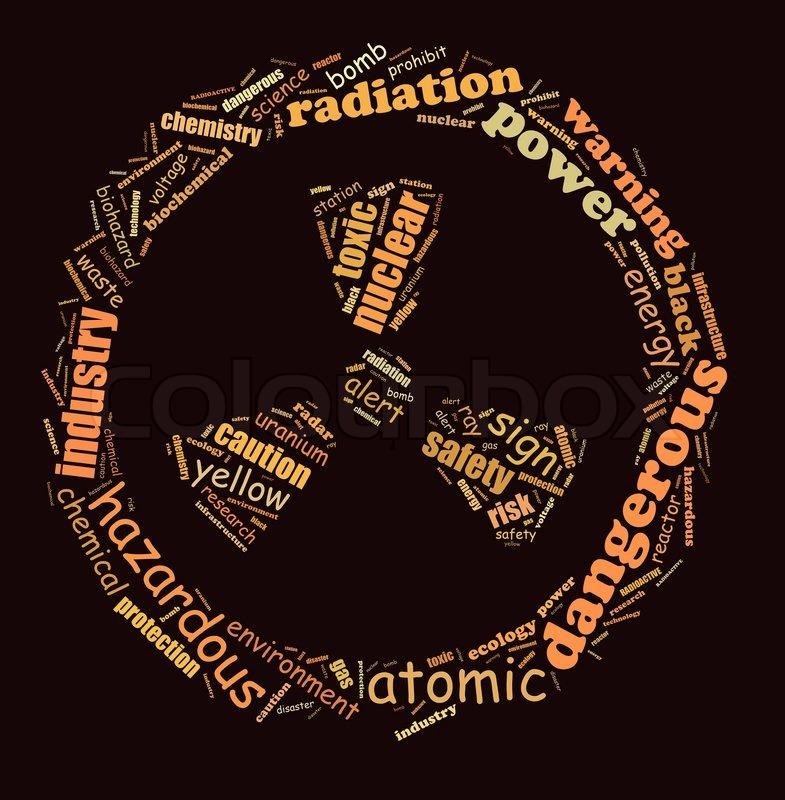 Radioactive Info Text Graphics Arrangement Composed In Radioactive