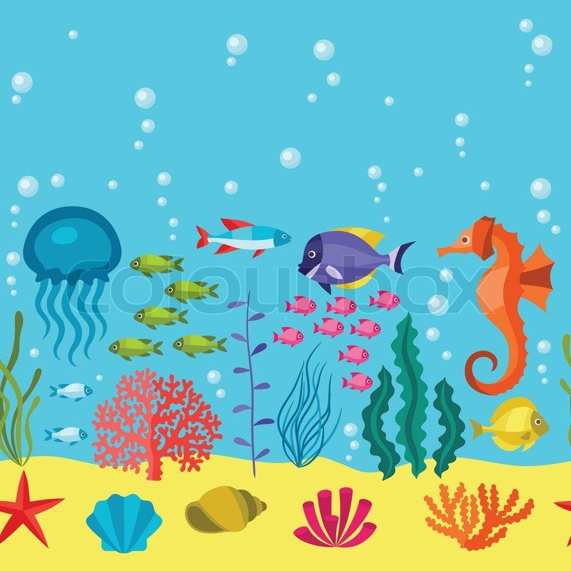 sommer aquarium stern  vektorgrafik  colourbox