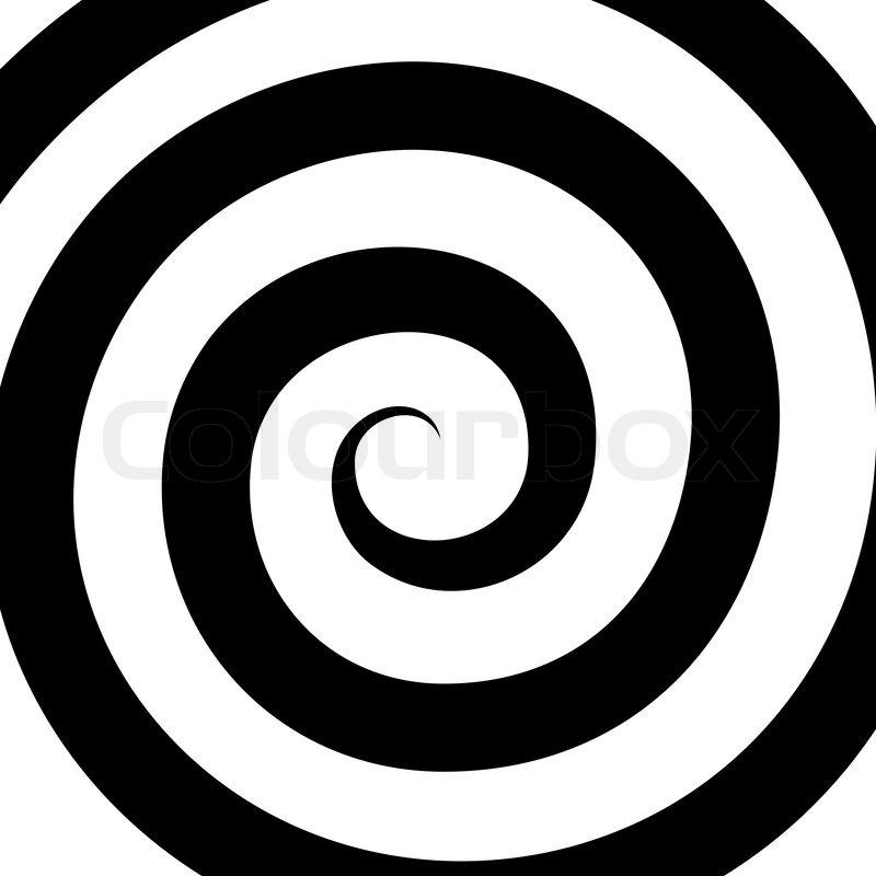 hypnosis spiral pattern optical illusion vector illustration rh colourbox com spiral vector eps spiral vector art