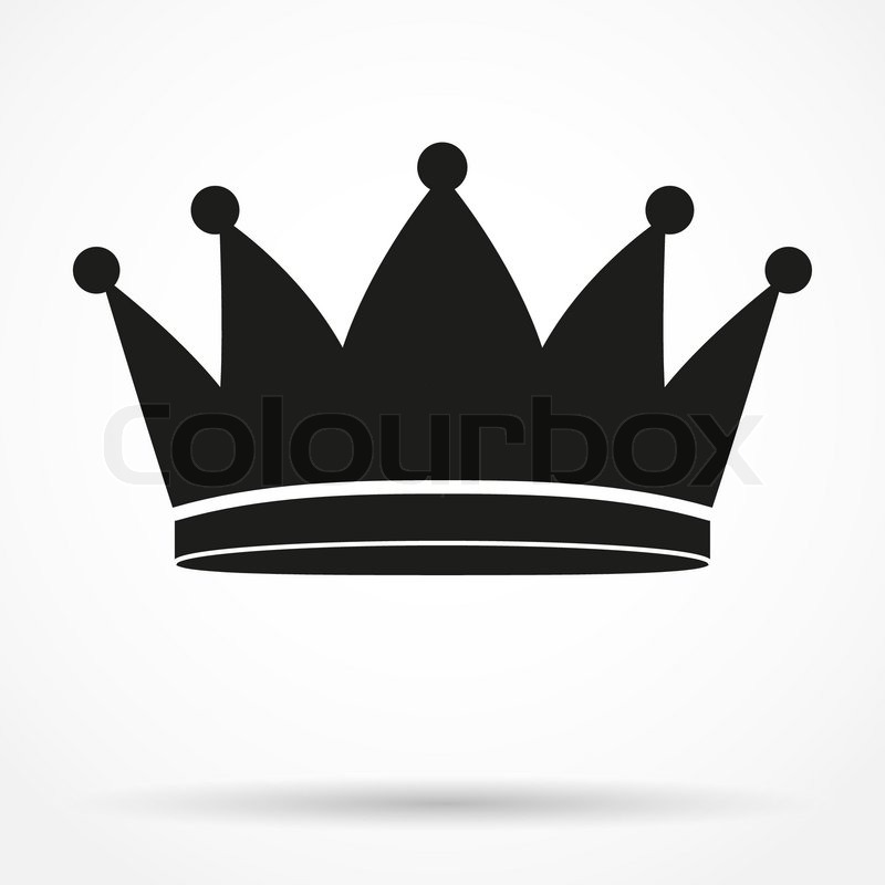 silhouette simple symbol of classic royal king crown vector rh colourbox com crown vector image crown vector free download