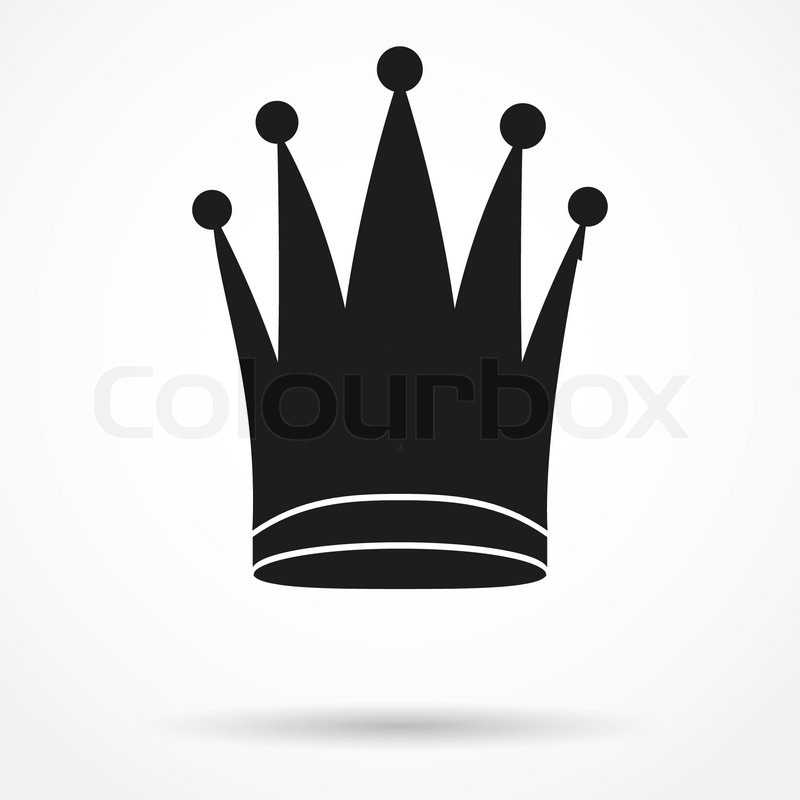 Silhouette Simple Symbol Of Classic Royal Queen Crown Vector