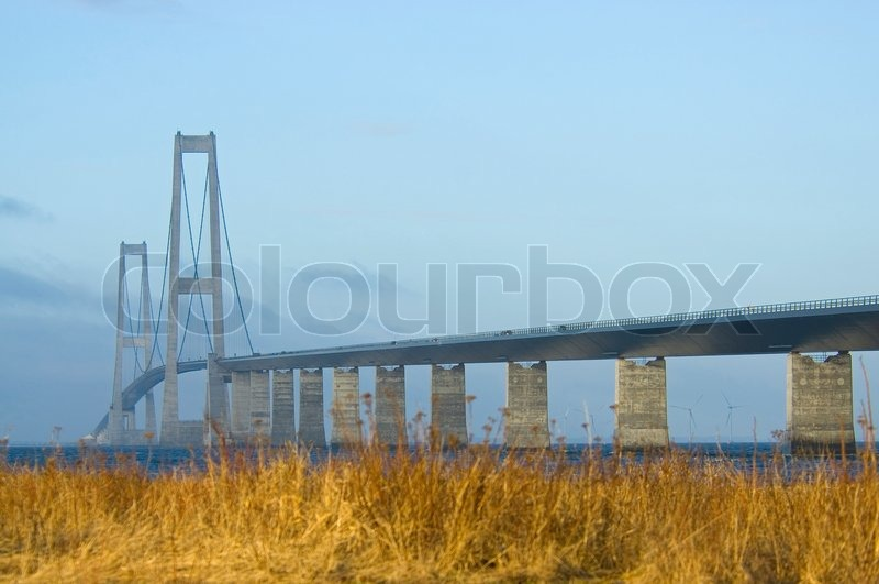 Storebælt, bridge, architecture | Stock Photo | Colourbox