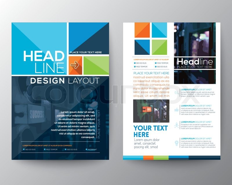 Vector Brochure Flyer Design Layout Template In A Size Stock - Conference brochure template