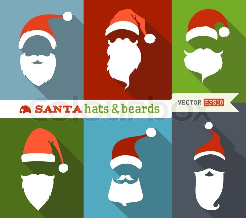 8300daf2a69 Flat Christmas icons with long shadow. ...