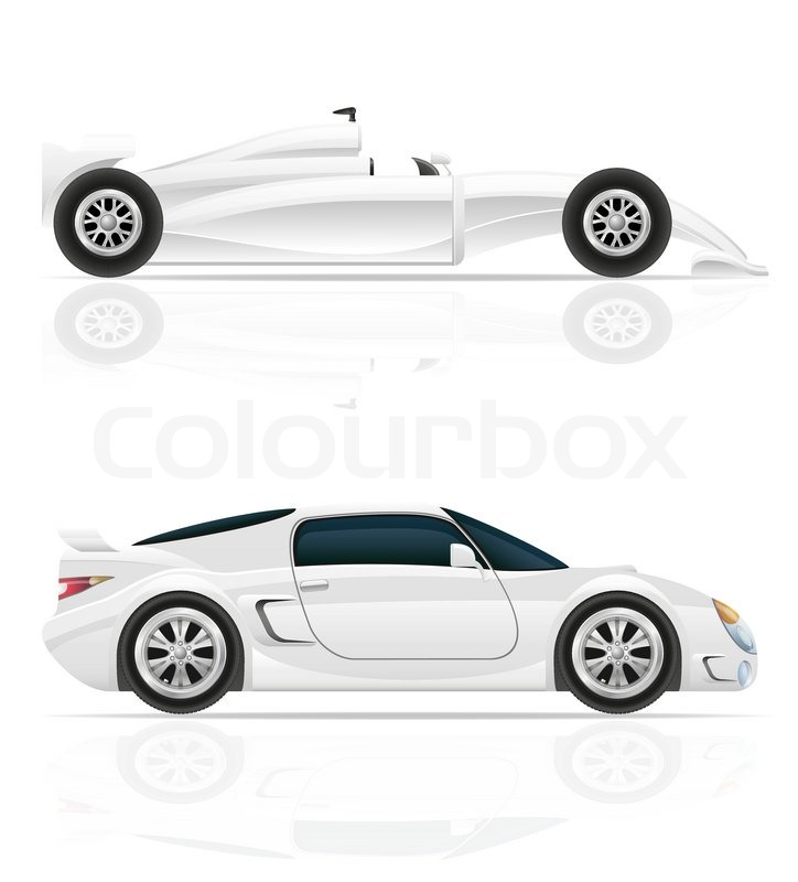Sport Car Vector Illustration Isolated On White Background | Stock Vector |  Colourbox