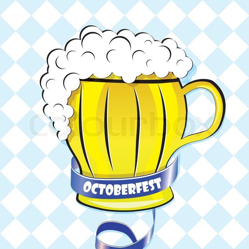 Oktoberfest background. Bavarian pattern. Vector beer ...