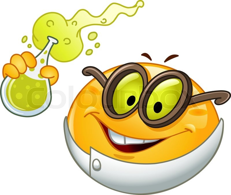 scientist emoticon holding a beaker full with bubbly fluid Free Smile Clip Art Silly Smiley Face Clip Art Free